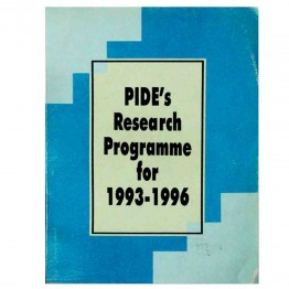 PIDE's Research Programme for 1993-96